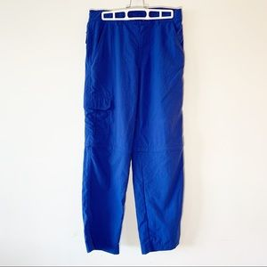 L.L. Bean Blue Nylon Zip-off Hiking Pants Youth 16